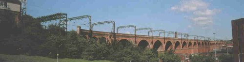 Stockport viaduct. The largest brick built structure in western Europe